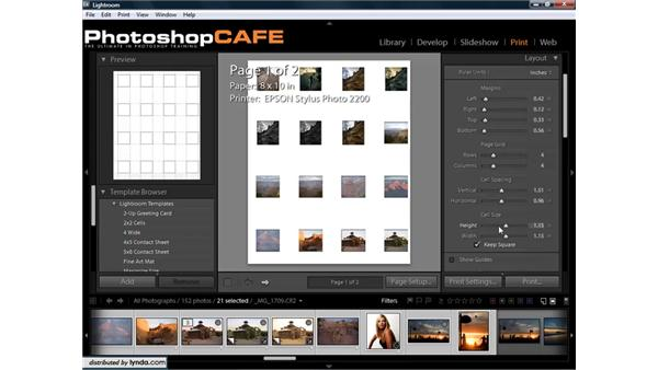 Creating contact sheets for proofing image collections: Lightroom 1.3 for Digital Photographers