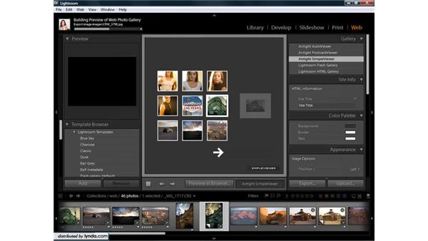 Overview of web galleries: Lightroom 1.3 for Digital Photographers