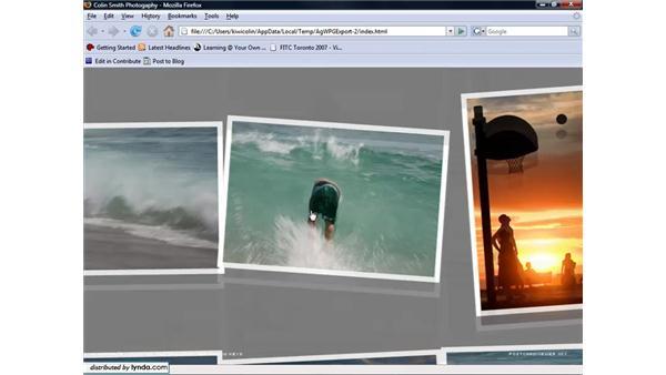 Using fancy Flash galleries: Lightroom 1.3 for Digital Photographers