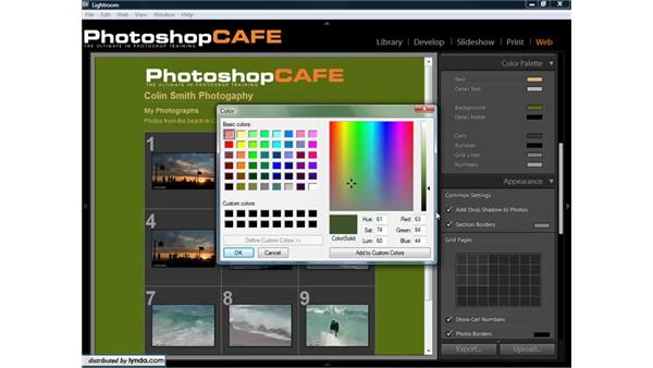 Customize the HTML galleries: Lightroom 1.3 for Digital Photographers