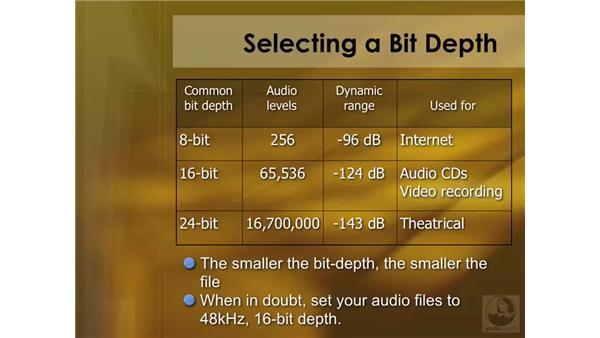 Audio terminology: Soundtrack Pro 2 Essential Training