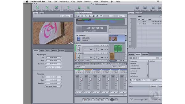 Starting the application and using panes: Soundtrack Pro 2 Essential Training