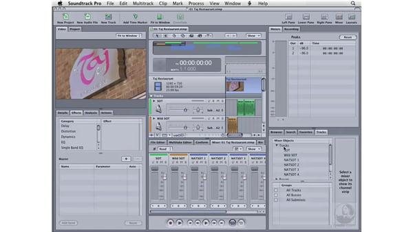 Working with tabs: Soundtrack Pro 2 Essential Training