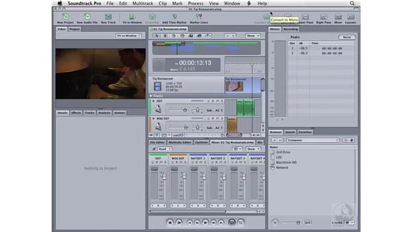 Creating custom toolbars: Soundtrack Pro 2 Essential Training