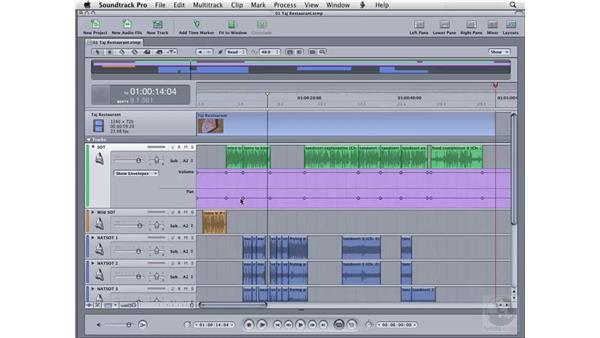 Understanding track headers: Soundtrack Pro 2 Essential Training