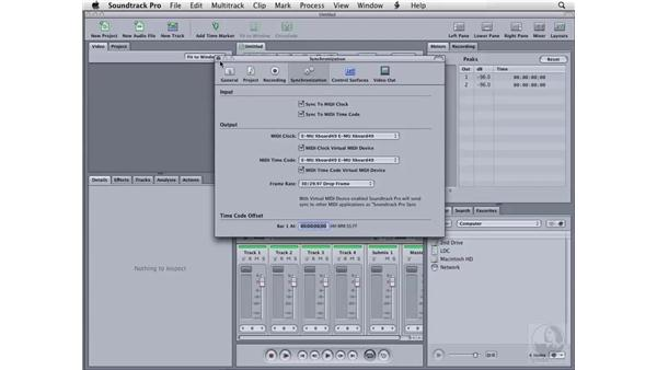 Setting system preferences: Sync tab and MIDI: Soundtrack Pro 2 Essential Training