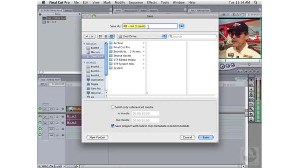 Sending single clips to Soundtrack Pro from Final Cut Pro: Soundtrack Pro 2 Essential Training