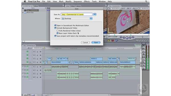 Sending multitrack clips to Soundtrack Pro from Final Cut Pro: Soundtrack Pro 2 Essential Training