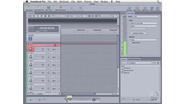 Recording audio: Soundtrack Pro 2 Essential Training