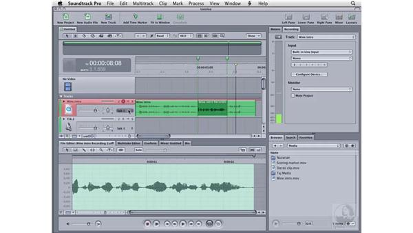 Punch recording: Soundtrack Pro 2 Essential Training