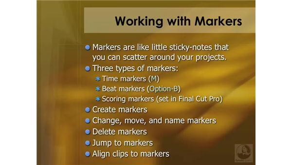 Marker overview: Soundtrack Pro 2 Essential Training