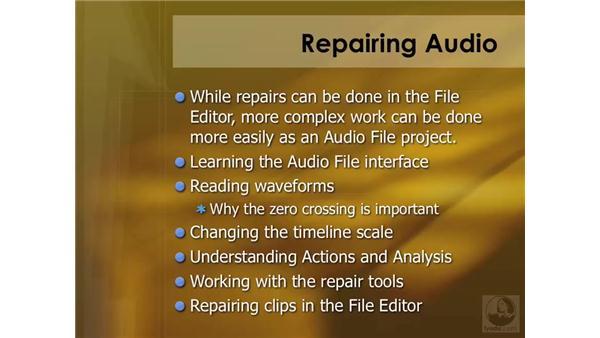 Audio repair overview: Soundtrack Pro 2 Essential Training