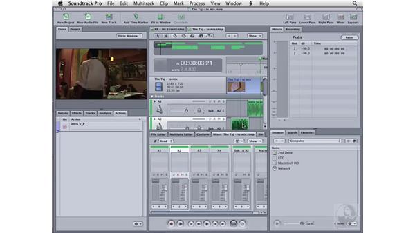Analysis, actions, and the File Editor: Soundtrack Pro 2 Essential Training