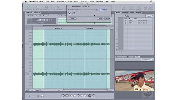 Normalizing audio: Soundtrack Pro 2 Essential Training