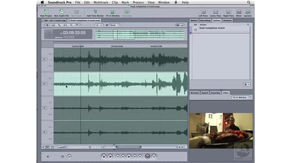 Working with ambient noise: Soundtrack Pro 2 Essential Training