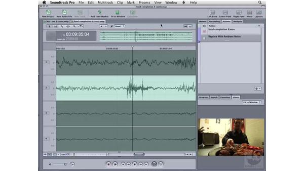 Cleaning up audio manually using sample values: Soundtrack Pro 2 Essential Training