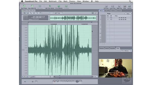 Converting stereo to mono: Soundtrack Pro 2 Essential Training