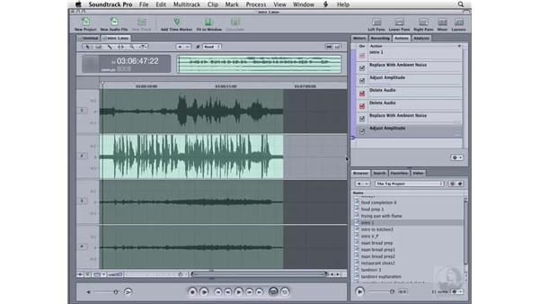 More repair tricks and using the Time Stretch tool: Soundtrack Pro 2 Essential Training