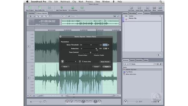 Reducing noise: Soundtrack Pro 2 Essential Training