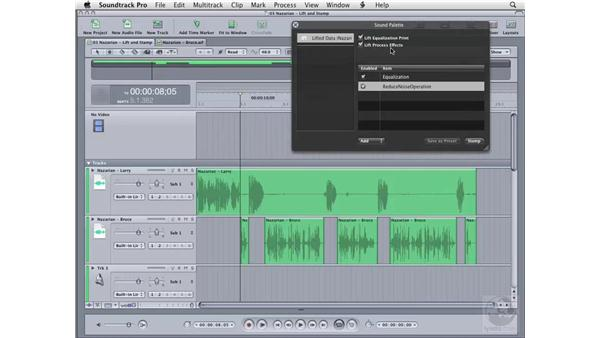 Using the Lift and Stamp tools: Soundtrack Pro 2 Essential Training