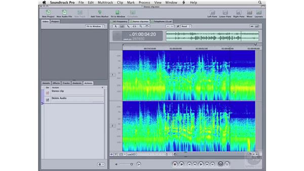 Frequency spectrum editing: Soundtrack Pro 2 Essential Training