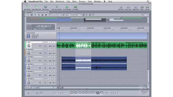 Selecting clips: Soundtrack Pro 2 Essential Training