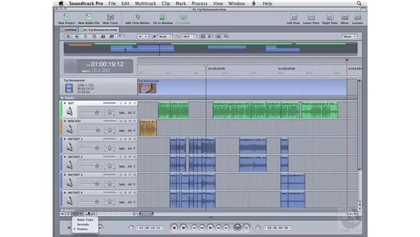 Adjusting clips: Soundtrack Pro 2 Essential Training