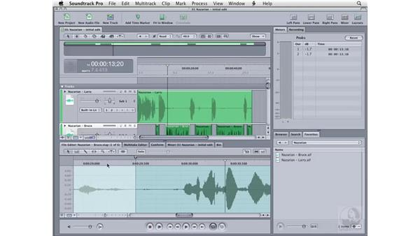 Audio cleanup techniques: Soundtrack Pro 2 Essential Training