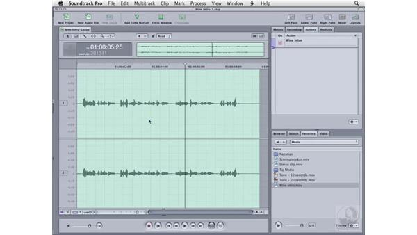 Creating scripts: Soundtrack Pro 2 Essential Training