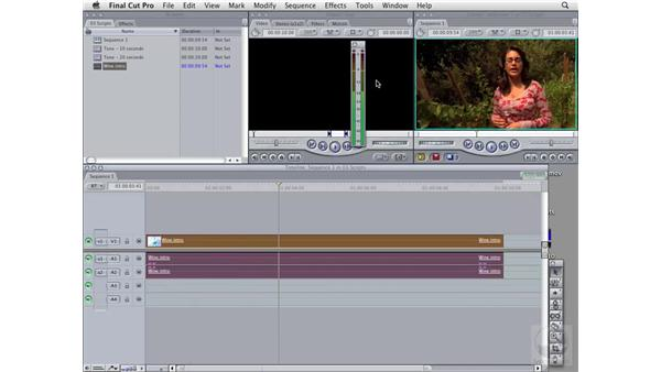 Accessing scripts inside Final Cut Pro: Soundtrack Pro 2 Essential Training