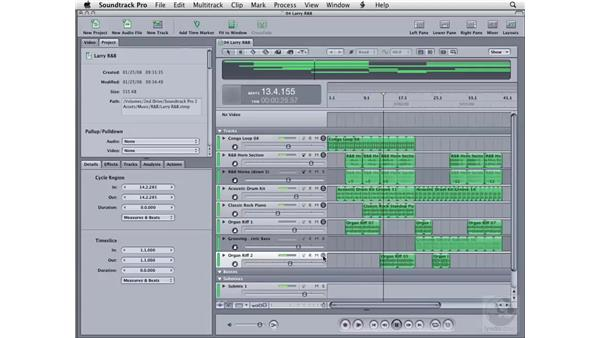 Using loops to create songs: Soundtrack Pro 2 Essential Training
