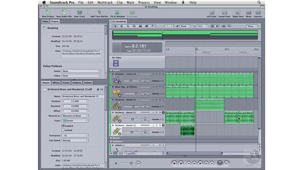 Transposition and doubling: Soundtrack Pro 2 Essential Training