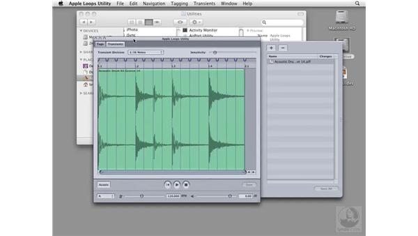 Introducing the Apple Loops Utility: Soundtrack Pro 2 Essential Training