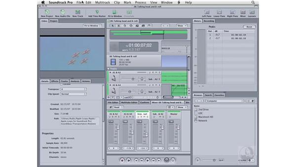 Finding effects: Soundtrack Pro 2 Essential Training