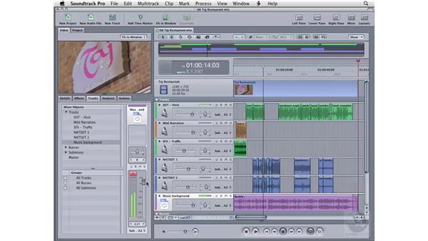 Using the Tracks tab: Soundtrack Pro 2 Essential Training