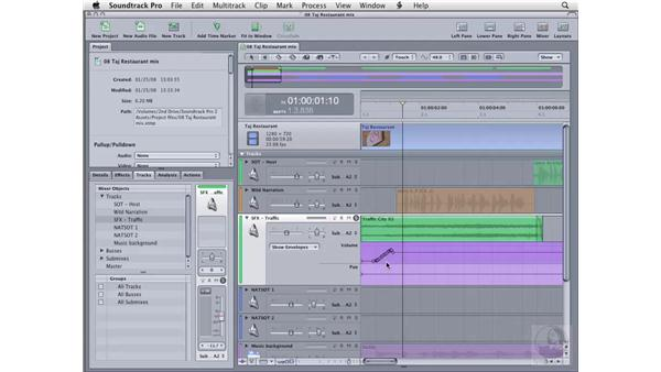 Recording envelopes: Soundtrack Pro 2 Essential Training