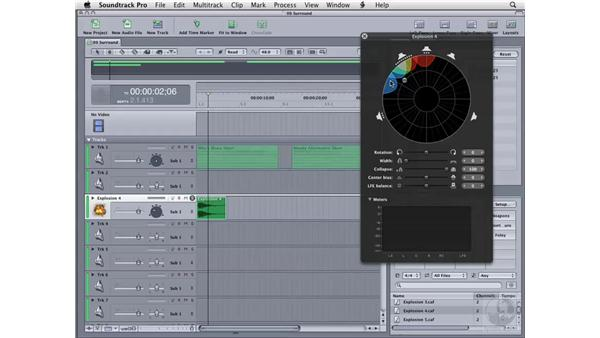 Working with surround sound: Soundtrack Pro 2 Essential Training