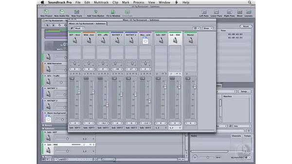 Creating submixes: Soundtrack Pro 2 Essential Training