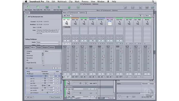 Creating buses: Soundtrack Pro 2 Essential Training