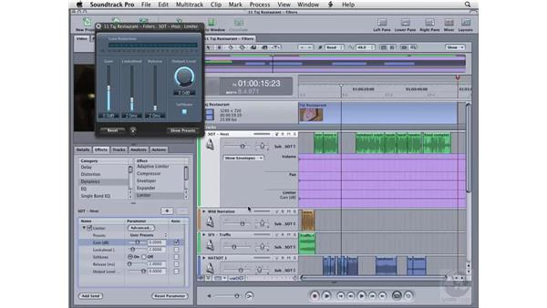 Applying filters : Soundtrack Pro 2 Essential Training