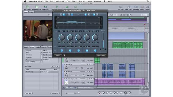 Using the Fat EQ filter: Soundtrack Pro 2 Essential Training