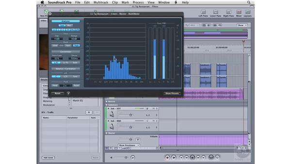 Using the MultiMeter: Soundtrack Pro 2 Essential Training