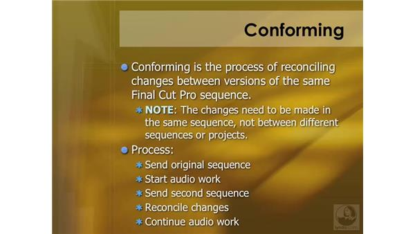 Conforming overview: Soundtrack Pro 2 Essential Training
