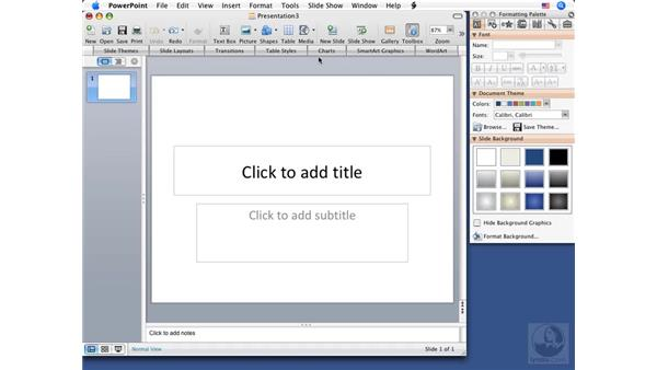 Understanding the interface: PowerPoint 2008 for Mac Essential Training
