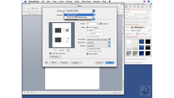 Using Print and Quick Print: PowerPoint 2008 for Mac Essential Training