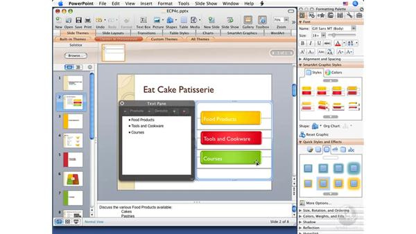 Applying effects to themes: PowerPoint 2008 for Mac Essential Training