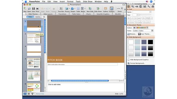 Creating custom themes: PowerPoint 2008 for Mac Essential Training