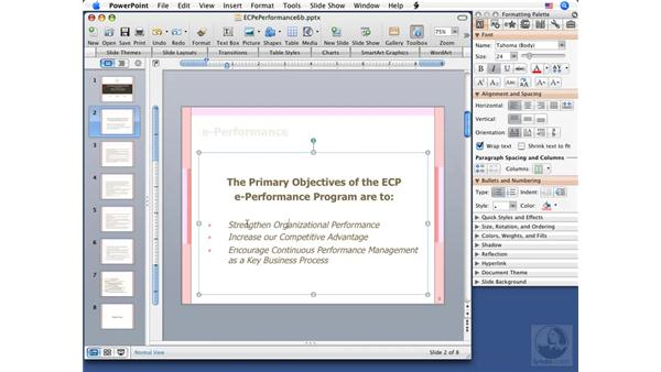 Finding synonyms: PowerPoint 2008 for Mac Essential Training