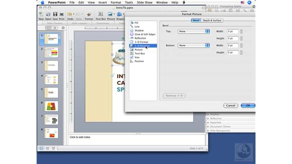 Modifying pictures: PowerPoint 2008 for Mac Essential Training
