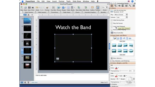 Using video: PowerPoint 2008 for Mac Essential Training